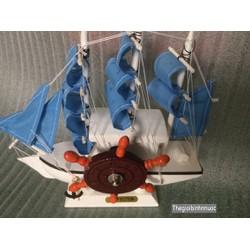 Quà Tặng Ý Nghĩa Hình Hộp Nhac Thuyền Buồm Cực Xinh Màu Xanh Dương