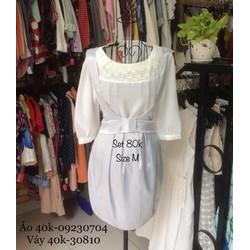 Set yếm áo+váy xám