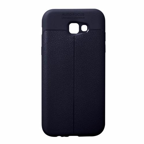 Ốp lưng dẻo Samsung Galaxy A7 2017 giả da xanh đen