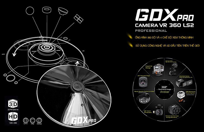 Camera IP Wifi Mắt Cá VR 360 Độ Yoosee 2