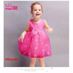 Đầm ren công chúa nơ xinh đi chơi đi tiệc mùa hè vnxk