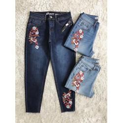 quần jeans thêu baggy