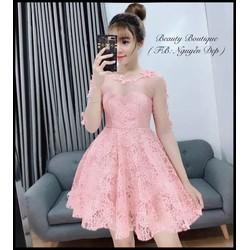 Đầm xòe viền bông cực xinh
