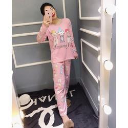 bộ pyjama hoạt hình dài kute