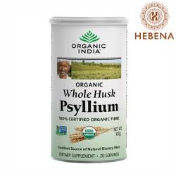 Mẫu mới - Vỏ hạt mã đề cung cấp chất xơ tự nhiên - Organic India Organic Whole Husk Psyllium - hebenastore