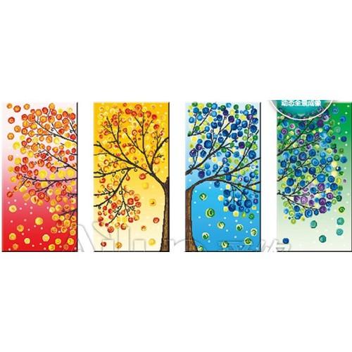 Tranh đính đá cây bốn mùa 164 x 75 cm - 5789351 , 9814336 , 15_9814336 , 382000 , Tranh-dinh-da-cay-bon-mua-164-x-75-cm-15_9814336 , sendo.vn , Tranh đính đá cây bốn mùa 164 x 75 cm