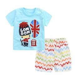 đồ bộ cotton thun bé trai mặc nhà cho mùa hè mát mẻ - đồ bộ đi biển