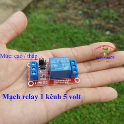 Mạch module relay 1 rơle điện áp 5 volt