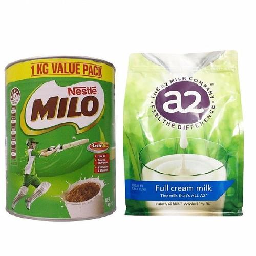 Bộ đôi sữa Milo Úc và A2 1kg - 5797259 , 9825762 , 15_9825762 , 645000 , Bo-doi-sua-Milo-Uc-va-A2-1kg-15_9825762 , sendo.vn , Bộ đôi sữa Milo Úc và A2 1kg