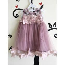 váy xoè, phối ren hồng siêu xinh, ảnh thật
