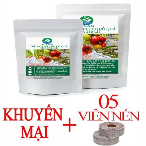 Dung dịch thủy canh| thủy ăn ăn quả pha 250 lít KM 5 Viên nén