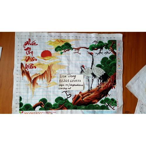 Tranh thêu HẠC- ĐÃ THÊU-THÊU KÍN