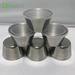 Bộ 10 Khuôn Làm Bánh Flan Inox 304 loại cao cấp nhất - có nắp đậy
