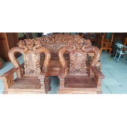 salon gỗ hương vân và gỗ gõ đỏ bàn ăn căm xe gõ
