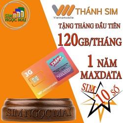 Thánh Sim 3G Vietnamobile 10 Số Miễn Phí 120Gb