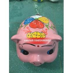 Lợn sứ tiết kiệm đầu tiền đuôi xoắn màu hồng