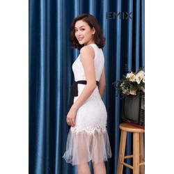 Váy ren thiết kế công sở và dự tiệc Emix  - Ảnh thật hàng loại 1