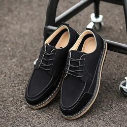 Giày Giả Da Lộn Nam Phong Cách Hàn Quốc Màu Đen