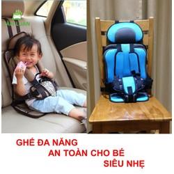 Đai ghế ngồi đa năng đi ô tô xe hơi an toàn cho bé trẻ em 1-6 tuổi oto