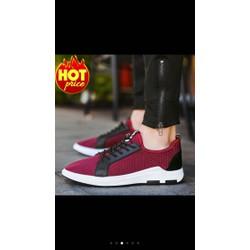 Giầy sneaker thể thao nam màu đỏ siêu đẹp size 42,thoáng khí,êm chân