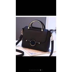 Túi xách nữ màu đen khoá khoen tròn đẹp