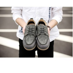 Giày Giả Da Lộn Nam Phong Cách Hàn Quốc Màu Xám