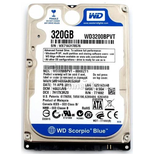 Ổ Cứng Laptop 320GB - SATA - 2.5 inch - Bảo hành 9 tháng