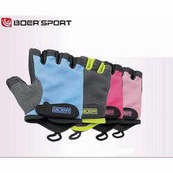Găng tay thể thao nữ - Găng tay gym hiệu Boer cao cấp