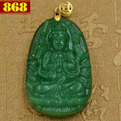 Mặt dây chuyền Thiên Thủ Thiên Nhãn ngọc tủy xanh