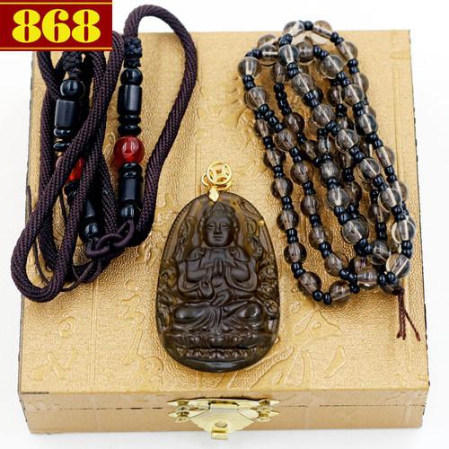 Dây chuyền Phật Thiên Thủ Thiên Nhãn Obsidian