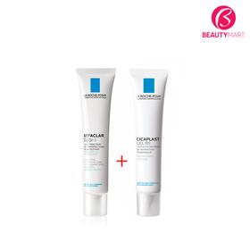 Kem trị mụn La Roche Posay Duo+ và Kem trị sẹo Cicaplast Gel B5 - BSP lrp trị mụn trị sẹo