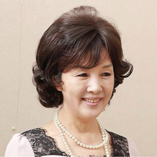Tóc giả nữ trung niên quý phái Hàn Quốc tặng lưới-TG7955