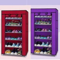 Tủ vải kệ để giày dép 6 tầng đa năng