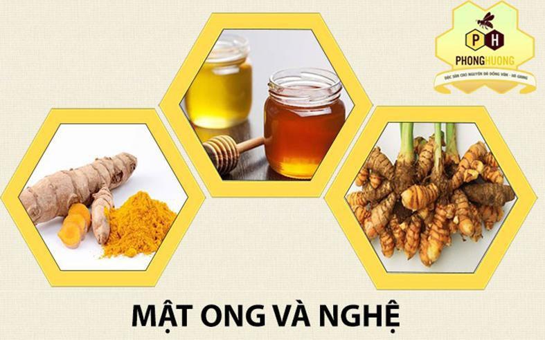 COMBO 500Ml Mật ong thiên nhiên+500g Tinh bột nghệ 1