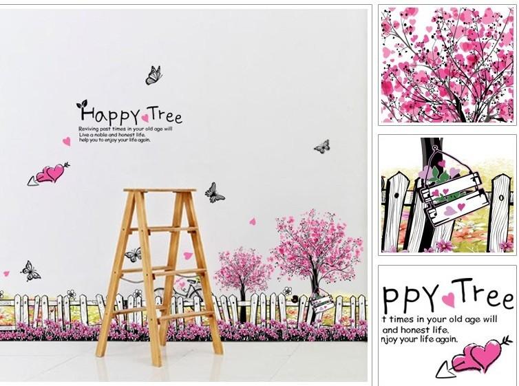 Decal chân tường Happy tree 6