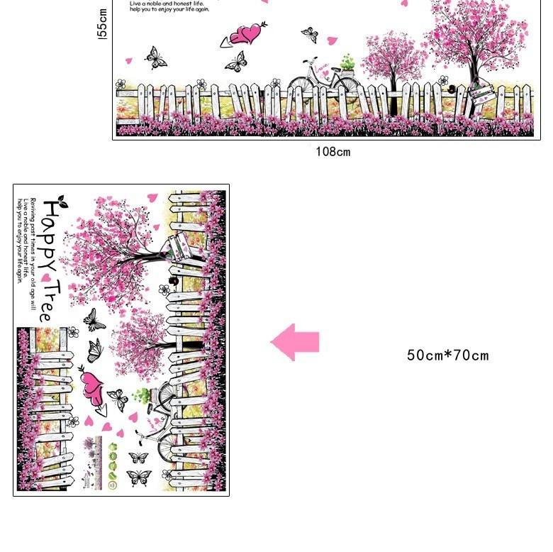 Decal chân tường Happy tree 3