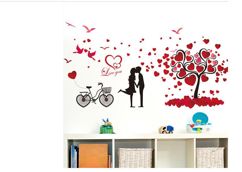 Decal tình yêu cặp đôi đỏ 4
