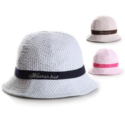 Mũ vành kẻ sọc cho bé gái