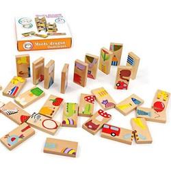 Đồ chơi Domino gỗ  Thẻ xếp hình 28 miếng
