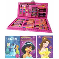 COMBO Hộp bút chì màu 86 món + Tập tô Công chúa 16 trang
