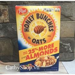 Ngũ Cốc Ăn Sáng Post Honey Bunches of Oats With Almond 510G