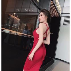 Đầm body chéo lưng