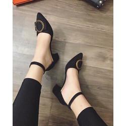 Giày sandal cao gót mũi nhọn cực sang