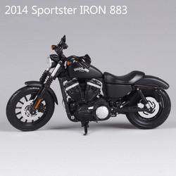 XE MÔ HÌNH MOTO HARLEY 2014 SPORTER IRON 883 TM - TỈ LỆ 1:12 - MAISTO
