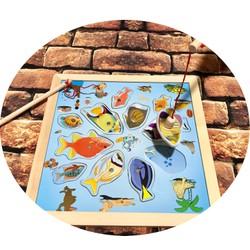 Bảng câu cá nam châm 2 cần