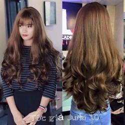 tóc giả nguyên đầu xoăn dài 65cm