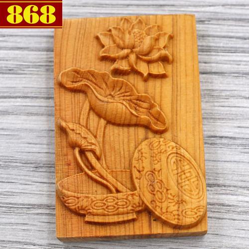 Mặt gỗ hoàng đàn bông sen MG103