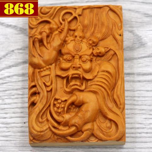 Mặt gỗ hoàng đàn Long vương MG64