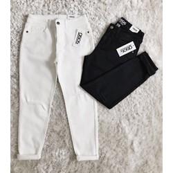 quần jeans baggy trắng đen rách ngang