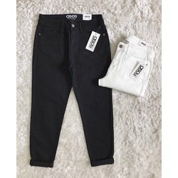 quần jeans baggy trắng đen